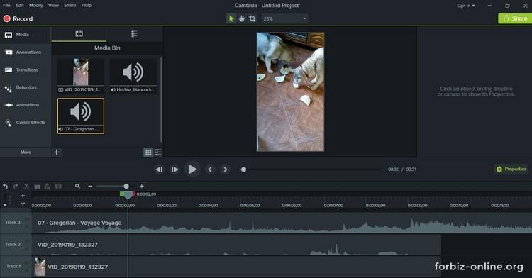 Как пользоваться Camtasia 9.0: несколько аудио дорожек