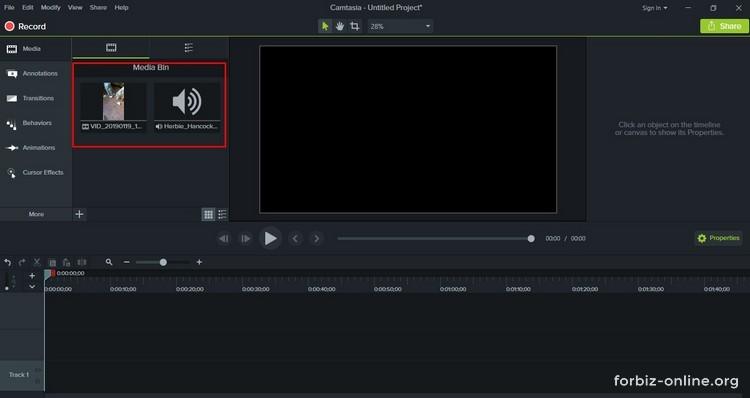 Как пользоваться Camtasia 9.0: где находятся видео, аудио, изображения