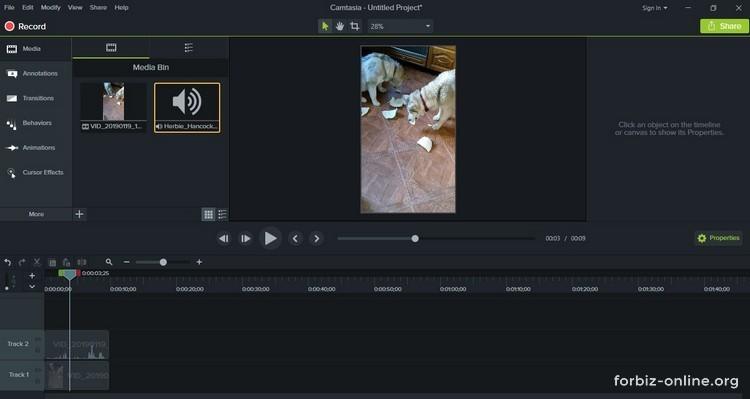 Как пользоваться Camtasia 9.0: аудио и видео