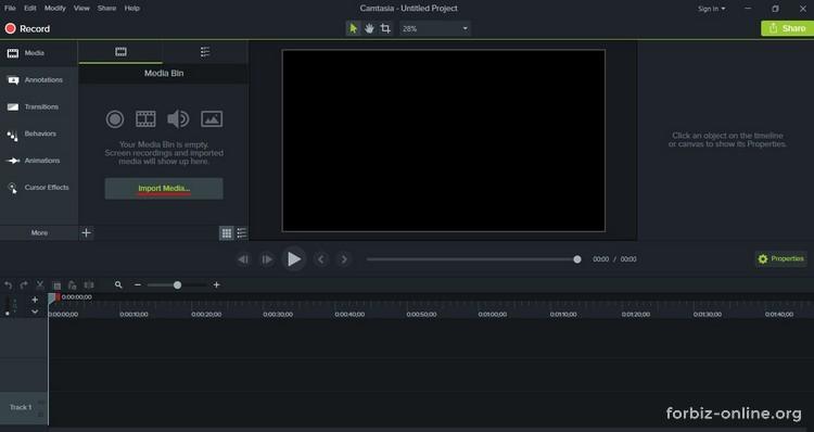 Как пользоваться Camtasia 9.0: импорт файлов
