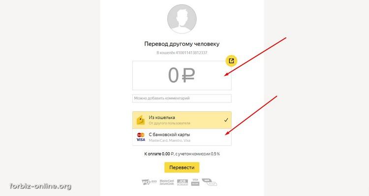Перевод по денег на Яндекс кошелек с любой карты мира