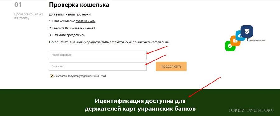 Идентификаци Юмани Украина и Казахстан: вводим номер кошелька